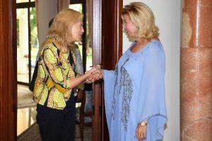 avec Mme Dominique Ouattara